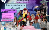 spectacle les aventuriers de noël  Marigny-Marmande 2019
