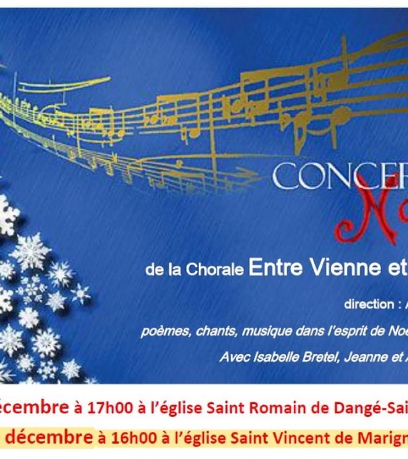 concert de Noël chorale Entre Vienne et Creuse 2019